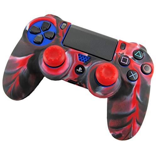 NIUQY Verlustprävention Weiche Tarnung Mode Personalisiert Mini Silikonhülle Tragbarer Schutzhülle Geeignet für Playstation PS4 Controller kompatibel Gerät aufrüsten