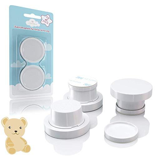 Avantina® Magnetische Kindersicherung Schrank und Schubladen - 4 Stück I 8 Stück I 16 Stück - Schranksicherung - unsichtbare Kindersicherung - Kinder-sicherung für Küchen (2 Extra Magneten)