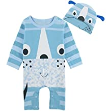 dac98c21c0a81 Mombebe Baby Jungen Frosch Strampler Overall mit Hut