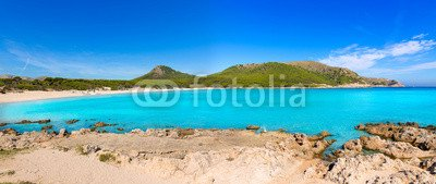 """Leinwand-Bild 70 x 30 cm: \""""Majorca Cala Agulla beach in Capdepera Mallorca\"""", Bild auf Leinwand"""
