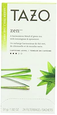 Tazo Zen Filter Bag Tea, 24-Count Packages (Pack of 6)