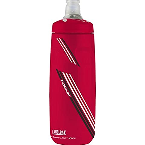 Camelbak Podium - Botella Transparente/Rojo (Clear Red), 620 ml