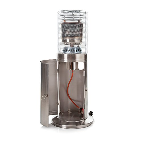 Fire Mountain Floor Standing Bullet Stainless Steel Gas Patio Heater