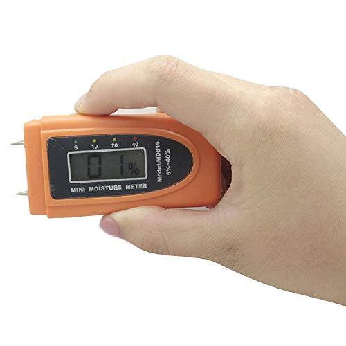 TuToy Md816 Mini Digital Wood Moisture Meter Tester Range 5% ~ 40% Test Feuchtigkeit Inhalt Von Holz 1% Auflösung Low Voltage Auto Prompt Low Power Consumption