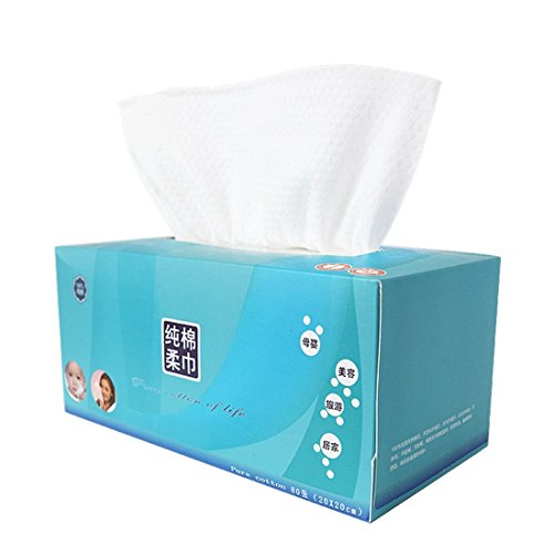 PeleusTech® Cleaning Face Towel, PeleusTech Cotton Removable Tissue Napkin Face Towels Disposable Cleaning Face Towel Dry and Wet Soft Cloth
