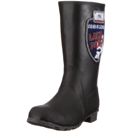 of California Gummistiefel Sneaker RB2803 PAT Colors Damen Schwarz Schwarz d5nxR