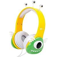DURAGADGET Auriculares mágicos para niños para Portátil HP Stream 14-ax003ns / Mediacom SmartBook 14 Ultra Notebook / Medion Akoya E6429 (MD 60182) , S2013 (MD 60077) , S6219 (MD 60627) . Colores divertidos. Diseño monstruo verde.