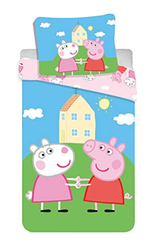 Jerry Fabrics 8500 Peppa Pig Baby-Bettwäsche Set 100 x 135 cm + 40 x 60 cm