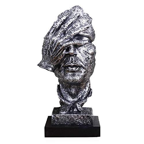 LOVEU Retro-Statue Figur Wohnkultur, Der Denker Gesicht Hand Skulpturen Kreative Abstrakte Einfach Für Männer Schreibtisch Dekorationen Für Büro Geschenk-e - Halloween Bedeutung Von Zitate