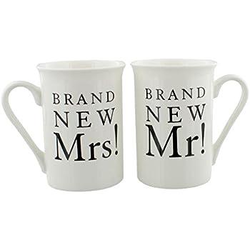 /nuovissimo Mr Mrs. Amore Coppia di Tazze in Porcellana Regalo di Nozze/