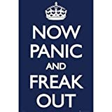 Now Panic And Freak Out Humor 36 x 24 Kunstdruck Poster Wall Decor College