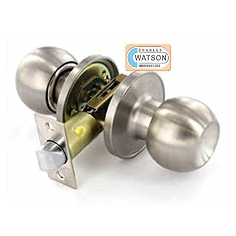 Passage Door Handle Knob Set – Stainless Steel