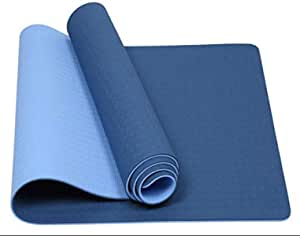 GISALA Yoga Mat Exercise Mats Gym Mat For Women and Men Workout Mats Non Slip Yoga Mats for Home with Carrying Strap TPE Eco Friendly Thick 183 x 61 x 0.6CM