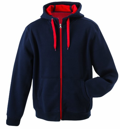 James & Nicholson Herren Jacke Doubleface Jacket, Gr. Medium, Blau (navy/red)