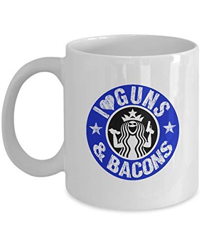 Guns 11 Bacon Oz Mug Vikkk Lover Coffee And Regalos Cerámica De Taza I Love 76vgYbfy