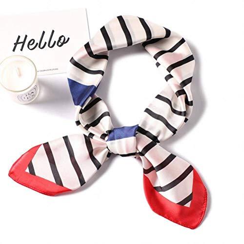 Elegent Dress-scarf Kleine Quadratische Weibliche Professionelle Kragen Schal Mode Diagonale Streifen Einfache Wilde Seide Schal Frühling Sommer Kleinen Schal, rot, 70 * 70 cm Diagonale Checker