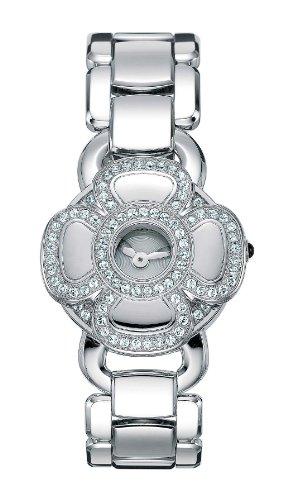 Cerruti FIORE 4340680 - Reloj de mujer de cuarzo, correa de acero inoxidable color blanco
