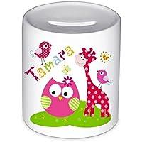 Spardose, Giraffe, mit Namen, für Kinder, Geschenk, Geschenk Taufe, Sparschwein, Geldgeschenke,