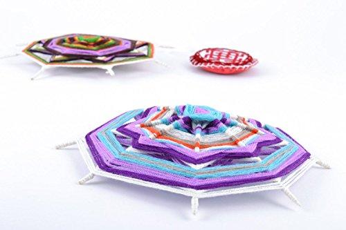 Bunter Interieur Anhanger Mandala aus Baumwollfaden Haus Talisman Handarbeit