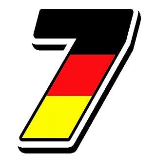 1 x Vinyl Germany Flag Sticker Deutschland National Auto Moto Motocross Motosport Start Racing Number 7 Rally Race Car Bike Motorcycle Tuning N 257