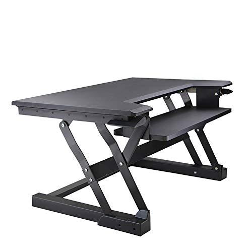 Höhenverstellbar Sitz Steh Schreibtisch Computertisch   Schreibtischaufsatz  Steharbeitsplatz Standtisch  Für Einen Monitor.