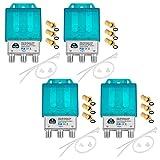 4X Pro DiseqC Schalter Switch 2/1 mit Wetterschutzgehäuse HB-DIGITAL 2X Sat LNB 1 x Teilnehmer / Receiver für Full HDTV 3D 4K UHD + 12 x Vergoldete F-Stecker Vergoldet