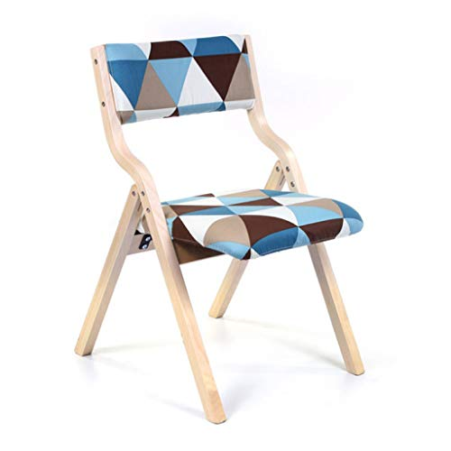 Chaise de loisirs Chaise de salle à manger Chaise de bureau Chaise de dossier Restaurant Créative Chaise pliante en bois Toile de jute (Couleur : C)