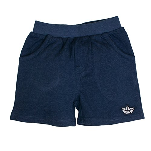 SALT AND PEPPER Baby-Jungen Shorts B Bermuda Pirat Uni, Blau (Ink Blue Melange 481), 86 (Sommer Jungen Kurz)
