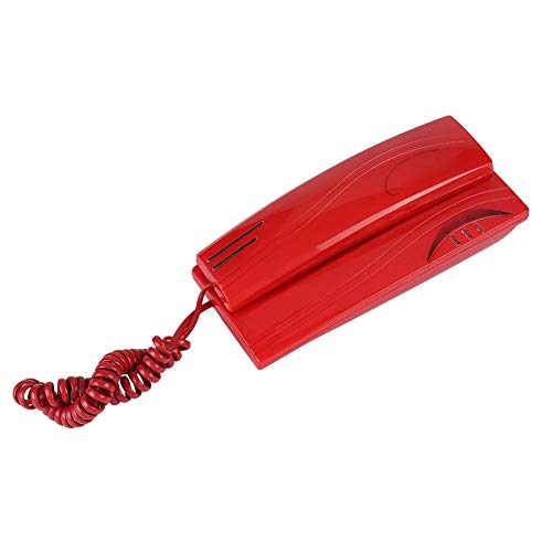 Eboxer Mini-Wand montiert Festnetz Telefon Festnetz Telefon für Haus, Festnetz Keine Batterie Telefon für Büro,Hotel usw.(rot)