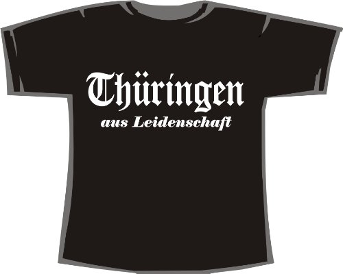 Thüringen aus Leidenschaft; Städte T-Shirt schwarz