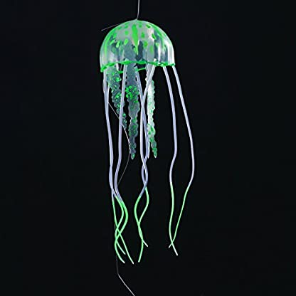 UEETEK 4pcs Glowing Artificial Jellyfish For Aquarium Fish Tank Aquarium decoration 4