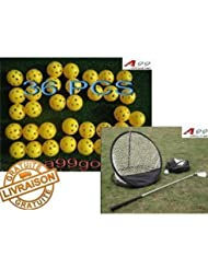 A99 golf filet d'entraînement golf +36 balles de golf airflow