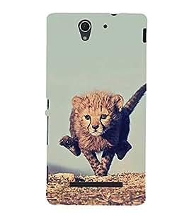 Fuson Designer Back Case Cover for Sony Xperia C3 Dual :: Sony Xperia C3 Dual D2502 (Tiger Cub Wild Animal Roaring Animal Fierce ANimal dangerous Tiger)