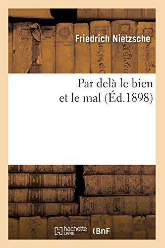 Par delà le bien et le mal (Éd.1898)