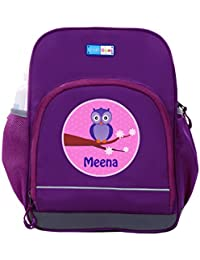 UniQBees Personalised School Bag With Name (Little Life Pre-School Backpack-Purple-Winky)