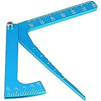 Tbest Regla Ajustable RC, Altura de Ajuste y Llantas Camber Herramienta de medición de ángulo múltiple para vehículos RC en Carretera
