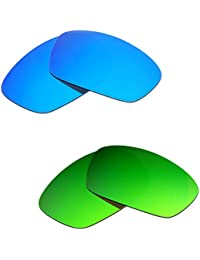 Hkuco Plus Mens Replacement Lenses For Oakley Hijinx Blue/Green Sunglasses