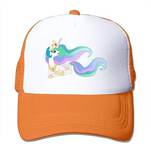errterfte Unicorn Rainbow Hair Mesh Men Casual Trucker Baseball Cap Orange Personalized Hat Comfortable Adjustable - Jordan Stricken Hut