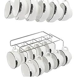 Soporte armario colgador doble10 ganchos tazas utensilios de cocina almacenamiento de OPEN BUY