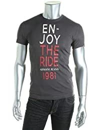 Armani Jeans Men's Slim Fit Round Neck T-Shirt Grey