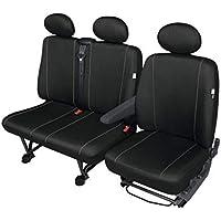 Schwarz-graue Dreiecke Sitzbezüge MERCEDES MB100 Autositzbezug  NUR FAHRERSITZ