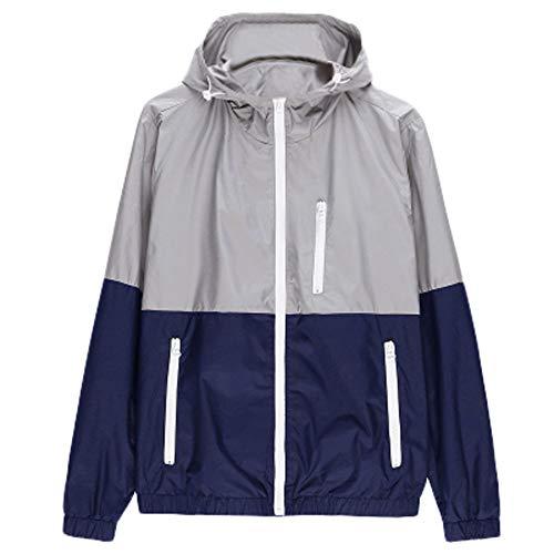 Dwevkeful Herren Freizeitjacke Outdoor Sportswear Windbreaker Leichte Bomberjacken Jackets Jacke Sweatjacke Patchwork Style BeiläUfiger