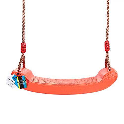 Pellor Kunststoff Schaukel Hochwertigem Rutschfest Teenager Schaukelsitz Garten Outdoor Kinderschaukel mit Höhenverstellbar Seil