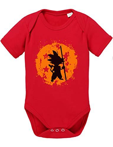 Son Bruch Dragon Ball Strampler Bio Baumwolle Baby Body Jungen & Mädchen 0-12 Monate, Größe:68/4-6 Monate, - Baby Saiyajin Kostüm