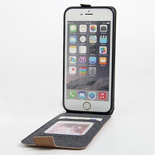 Coque iPhone 6/ iPhone 6S,Manyip Téléphone Coque - PU Cuir rabat Wallet Housse [Porte-cartes] multi-Usage Case Coque pour iPhone 6/ iPhone 6S,Classique Mode affaires Style E