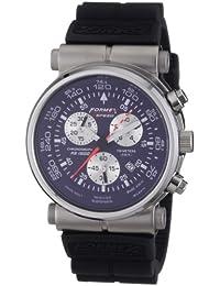 Formex 4 Speed 15004.3031 - Reloj cronógrafo de cuarzo para hombre con correa de silicona, color negro