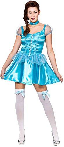 Ice Blue Princess (short) Ladies Fancy Dress Costume (Dress Princess Fancy Ice Kostüm)