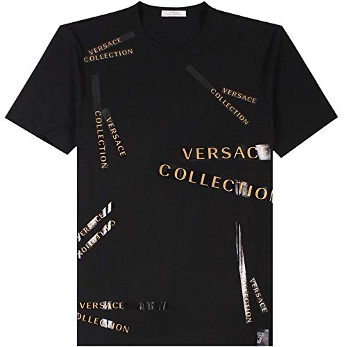Versace Kollektion Logo Tape T-Shirt EXTRA Large Black