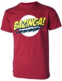 Bazinga Big Bang Theory Inspired Mens Red T Shirt