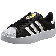 adidas SUPERSTAR BOLD W - Zapatillas deportivas para Mujer, Negro - (NEGBAS/FTWBLA/DORMET) 38 2/3